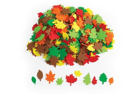 Colorations® Colorful Leaf Foam Shapes - 500 Pieces