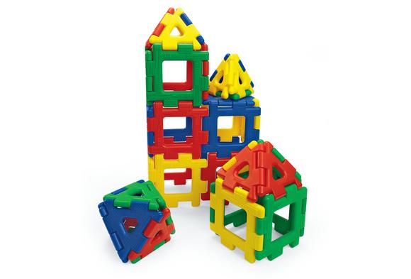Giant Polydron Building Set - 40 Pieces