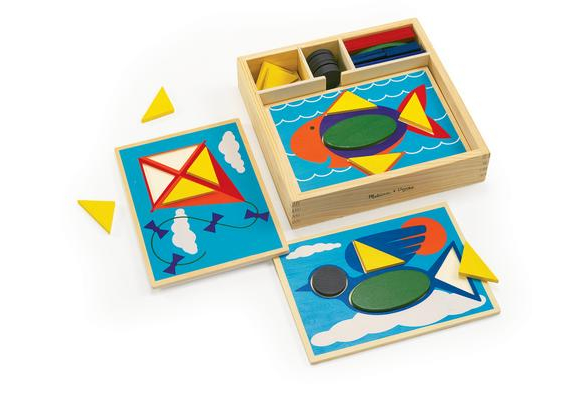 Beginner Pattern Block Puzzles - 35 Pieces