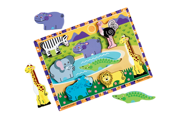 Chunky Puzzle Safari - 9 Pieces