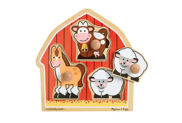 Jumbo Knob Puzzle - Barnyard Animals
