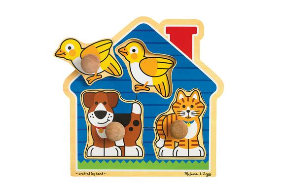 Jumbo Knob Puzzle - House Pets
