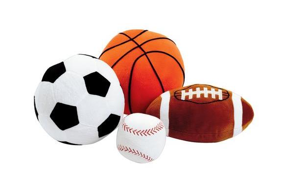 Giant Plush Sports Balls - Set of 4