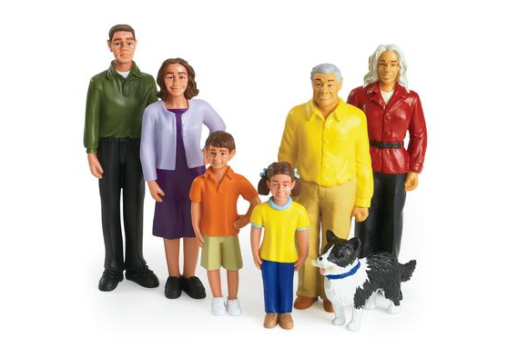 Excellerations® Pretend Play People - Hispanic Family