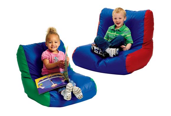 Toddler High-Back Beanbag Chair