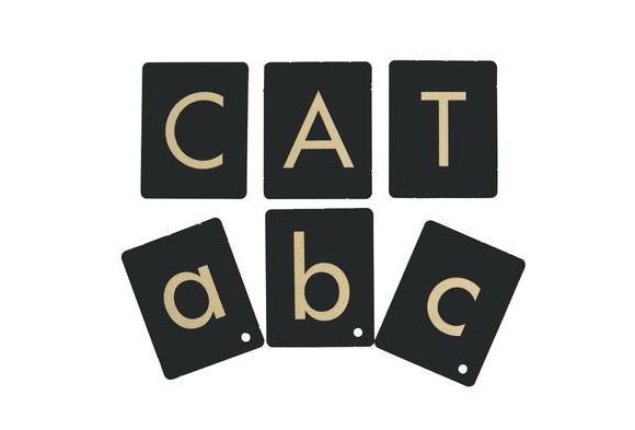 Upper- and Lowercase Tactile Letters - 54 Pieces