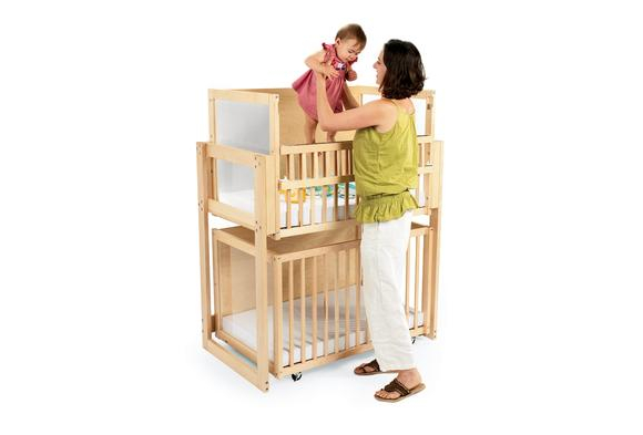 Space-Saver Two-Level Crib