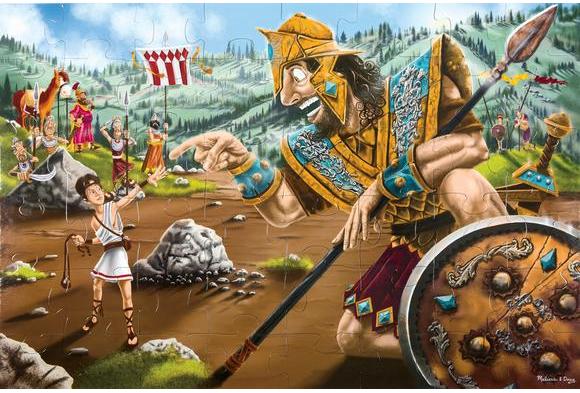David and Goliath Floor Puzzle
