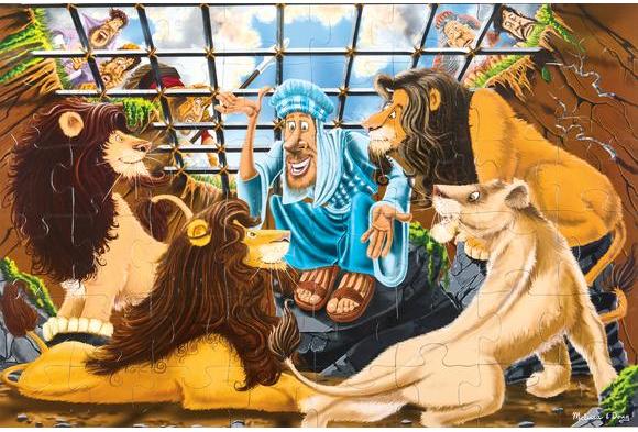 Daniel and the Lions' Den Floor Puzzle