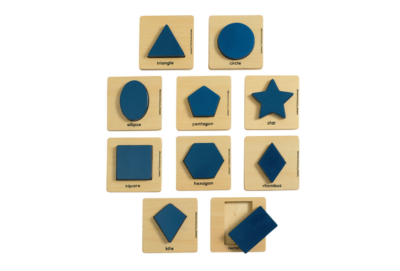 Excellerations® Wooden Shape Puzzles - Set of 10