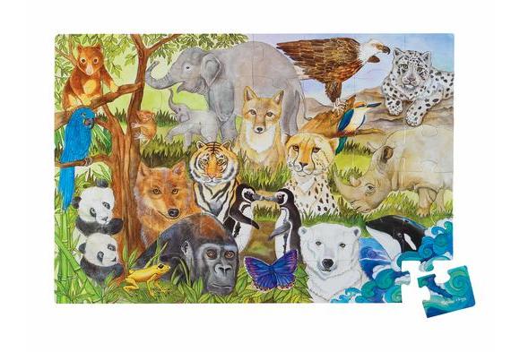 Jumbo Animal Floor Puzzle - Endangered Species