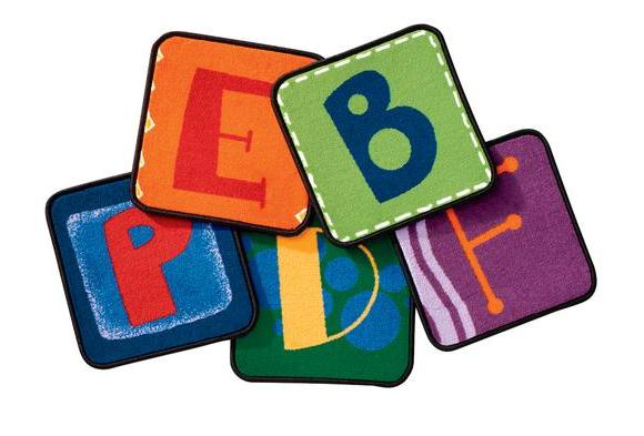 Toddler Alphabet Blocks - Squares, Set of 26