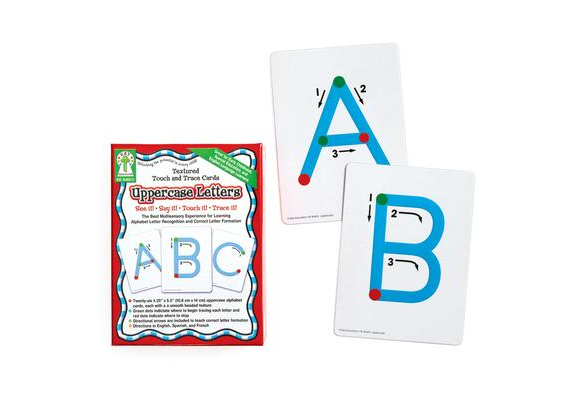 Textured Traceable Letters - Uppercase and Lowercase