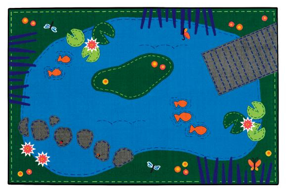 Tranquil Pond Value Rug - 4' x 6' Rectangle