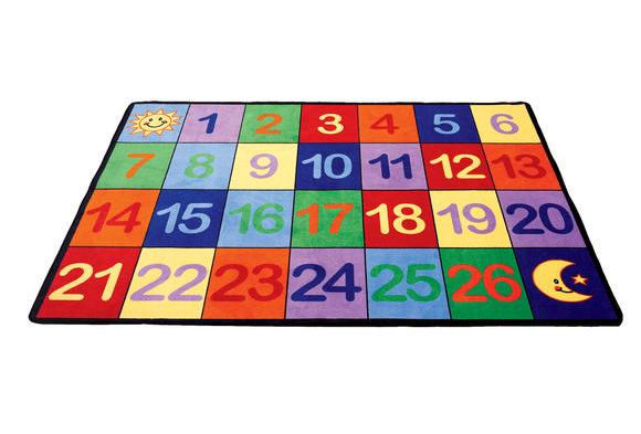 Angeles® Counting Numbers Seating Rug - 8'5