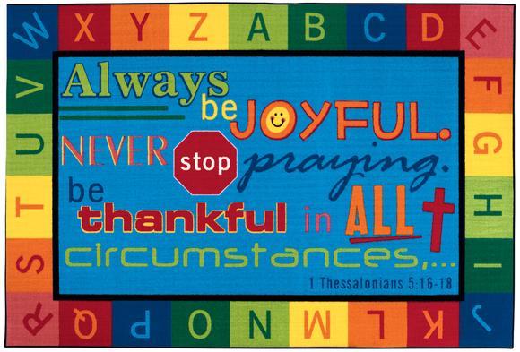 Always Be Joyful Value Rug