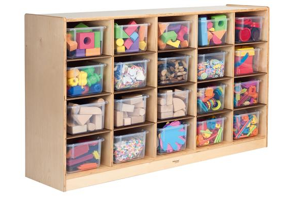 Cubbie Storage Cabinet with 20 Trays