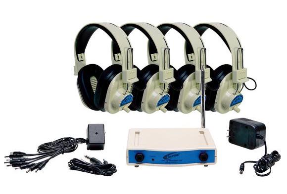 Califone® Wireless Listening Center- 4-Person System
