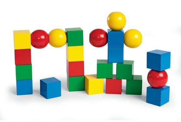 Magnetic Building Blocks - 24 Pieces