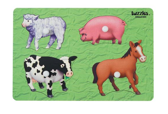 Knob Puzzle - Farm Animals