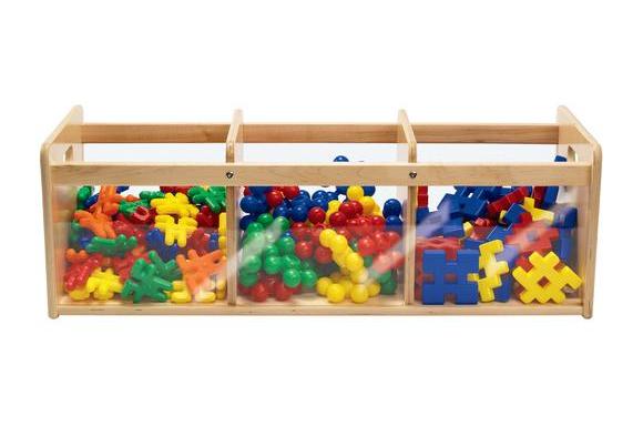 Environments® Toddler Easy View Birch Triple Bin Storage Center