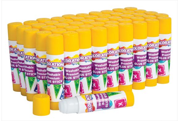 Colorations® Washable Premium Glue Stick - Set of 50