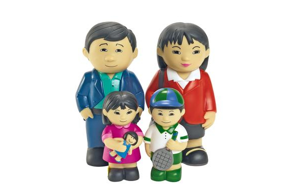 Excellerations® Our Soft Family Dolls Asian Set of 4