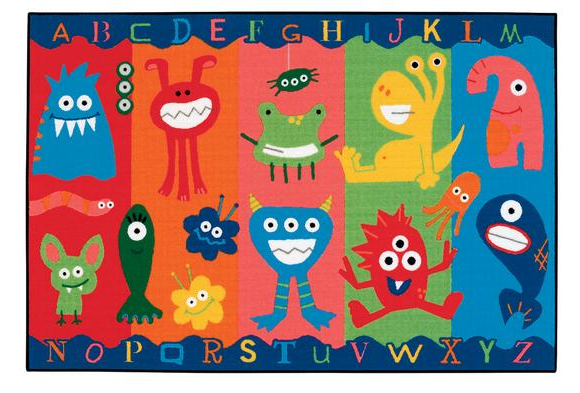 Alphabet Monsters Value Rug - 4' x 6' Rectangle