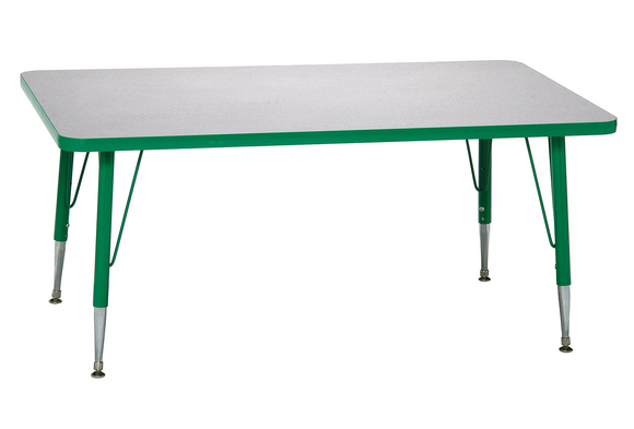 school rectangle table. Green 18-25\ School Rectangle Table I
