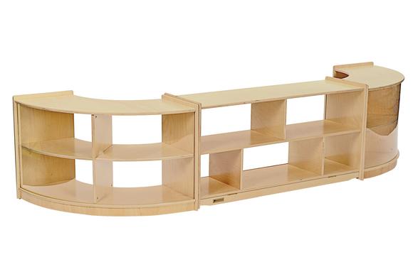 MyPerfectClassroom® 3-Piece Curved Storage Unit