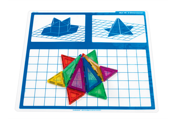 Excellerations® Magnetic Shapes Engineering Mats - Set of 10