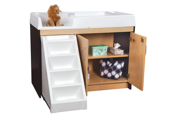 Toddler Walk-Up Changing Table - Two Tone