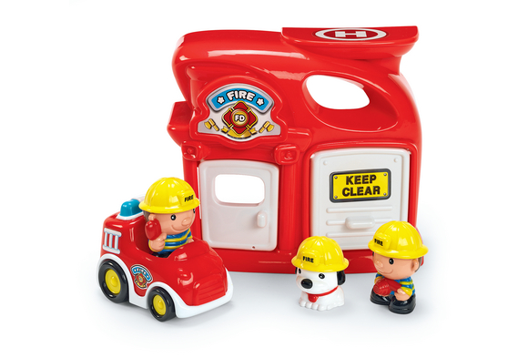 Fire House Play Set - 5 Pieces