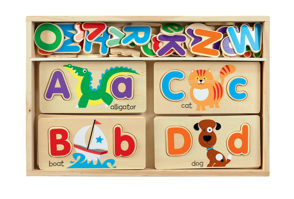 Double-Sided ABC Picture Board