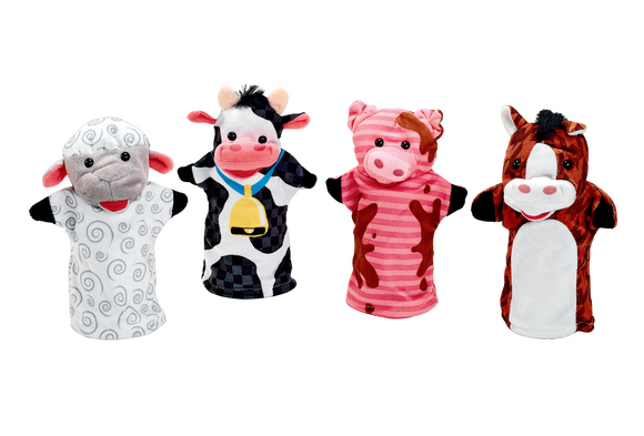 Toddler Play Puppets - Farm Friends
