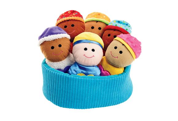 Excellerations® Plush Basket of Sensory Babies - 7 Pieces