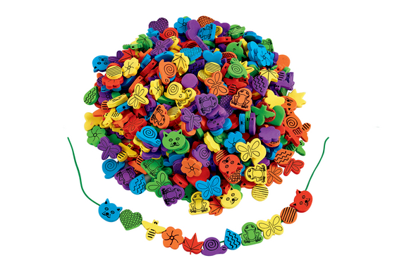 Colorations® Fun Shapes Foam Beads - 500 Pieces