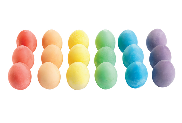 Colorations® Chunky Chalk Eggs - Set of 18