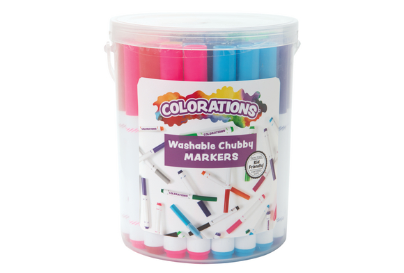 Colorations® Washable Chubby Markers - Set of 44