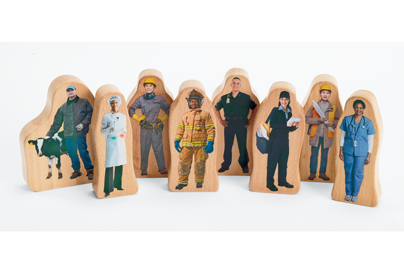Excellerations® Photo Block Career Play People - Set of 8