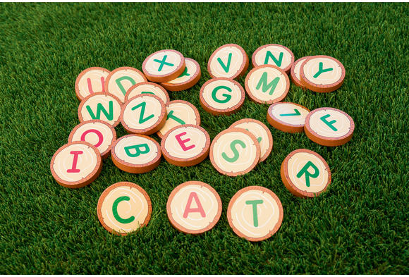 Excellerations® Wooden Alphabet RoundsWooden Alphabet Rounds