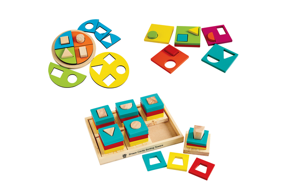 Early Math & Logic Puzzles Set of 3