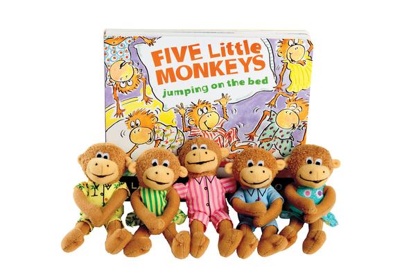Five Little Monkeys Puppet & Board Book Storytelling Set