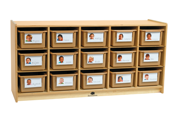 Environments®  Infant & Toddler Cubby w/ Tan Bins - Fully Assembled