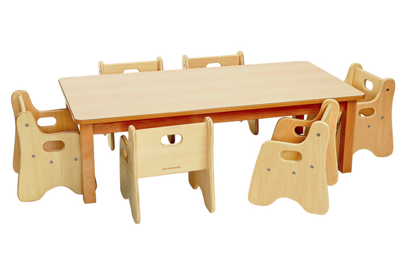 Infant/Toddler Rectangle Table & Chairs 48