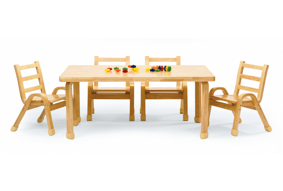 Angeles® NaturalWood™ Collection Rectangular Table 18