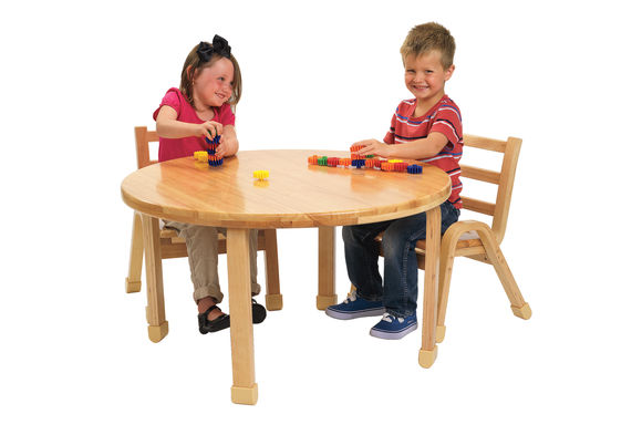 Angeles® NaturalWood™ Collection Round Table 24