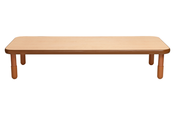30 X 72 Rectangle Baseline Table 12 H Natural Cocoa