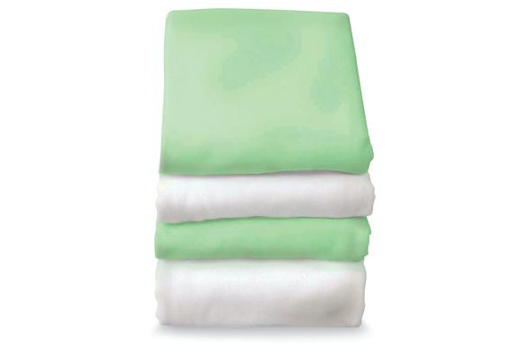 SafeFit™ Elastic Fitted Sheets - Set of 6 - White