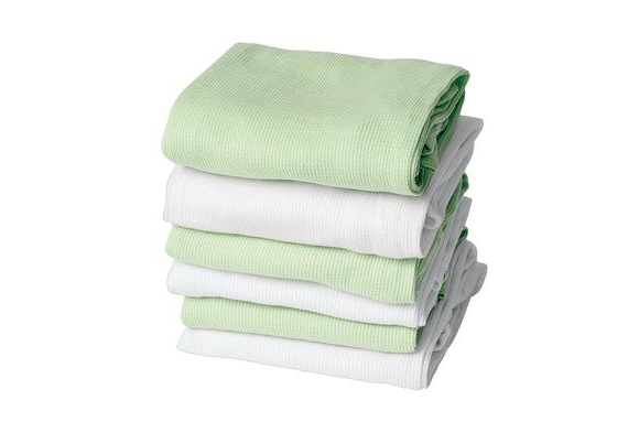 ThermaSoft™ Blankets - Set of 6 - Mint Green